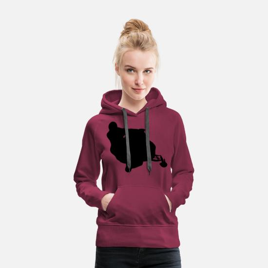 Voiture Sweat-shirts - snowmobile snow cross x games racing sport - Sweat à capuche premium Femme bordeaux