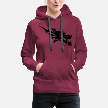 Christ dragon tattoo - Women's Premium Hoodie