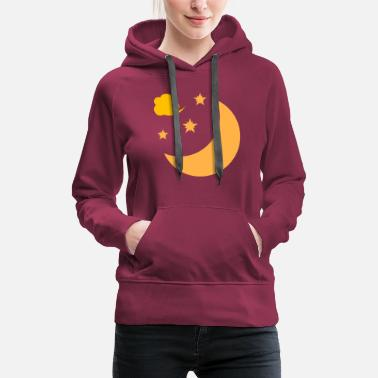 Moon moon and stars - Women's Premium Hoodie