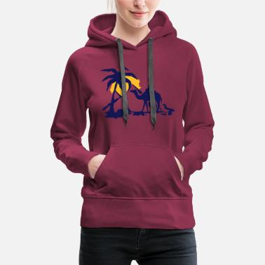 Oasis A camel, pyramids and oasis - Women's Premium Hoodie