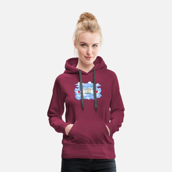 Door Hoodies & Sweatshirts - of Paradise - Women's Premium Hoodie bordeaux