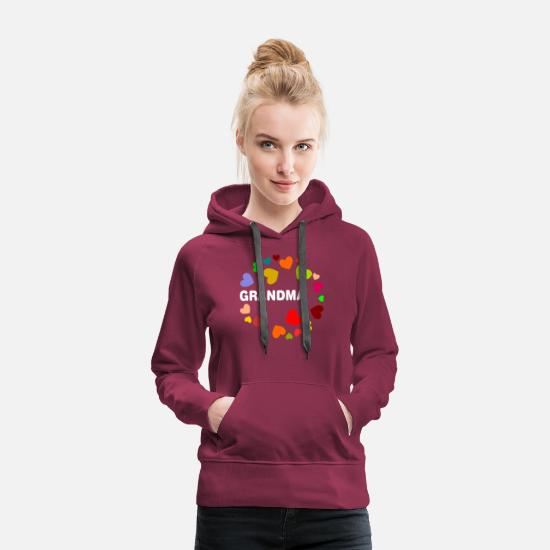 Love Hoodies & Sweatshirts - Grandma - Women's Premium Hoodie bordeaux