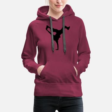 Dancer breakdance dance music hiphop - Women's Premium Hoodie
