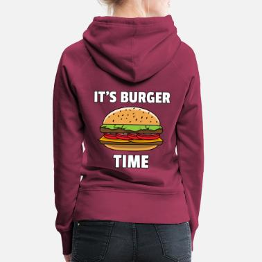 Cheeseburger Burger Fast Food Cheeseburger Hamburger Gift - Sweat à capuche premium Femme