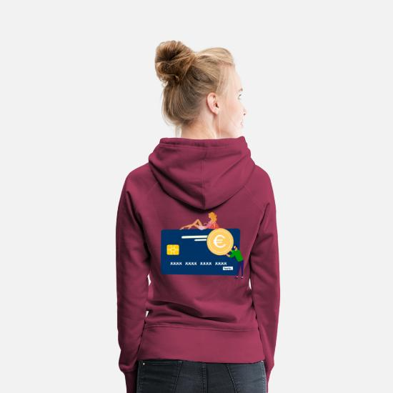 Gift Idea Hoodies & Sweatshirts - Credit Card HARIZ JGA Bachelor Party - Women's Premium Hoodie bordeaux
