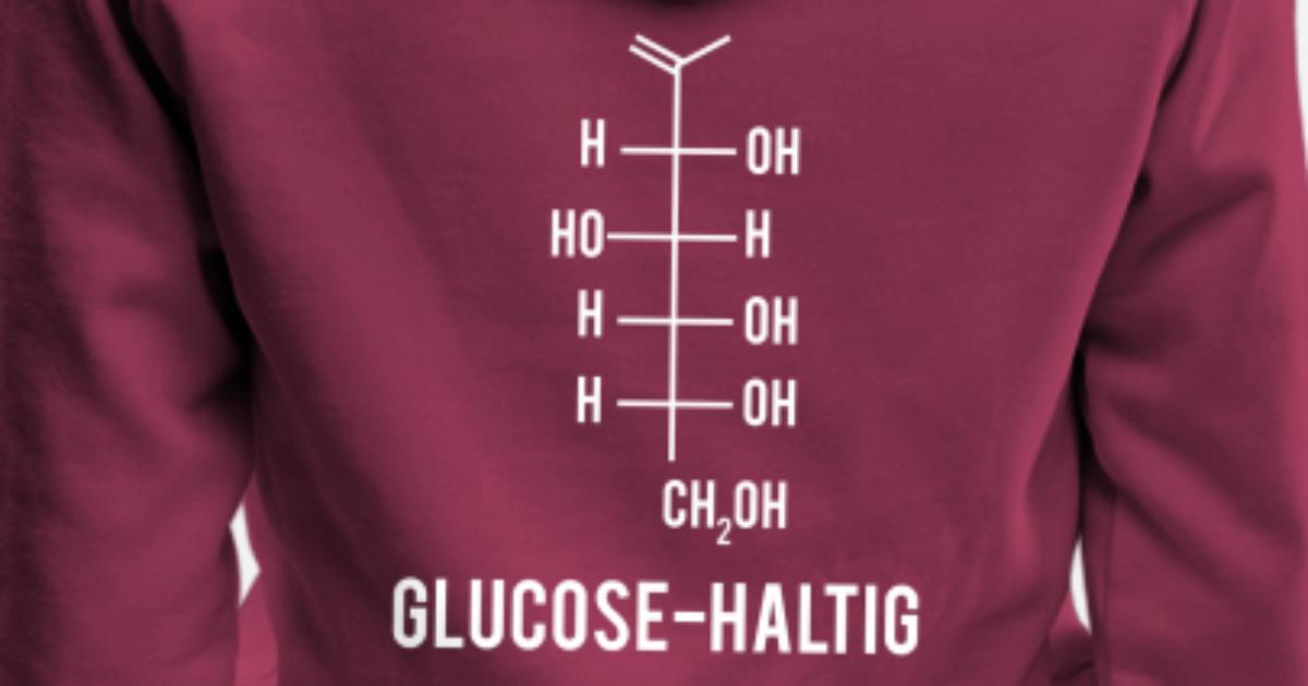 Glucose Haltig Süß Chemische Formel Zucker Glukose Frauen Premium Hoodie Spreadshirt