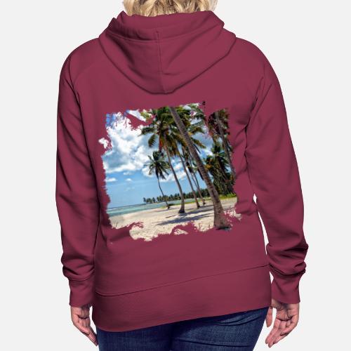 ff201db8d Palmen und weißer Sand, so ist Urlaub Frauen Premium Hoodie ...