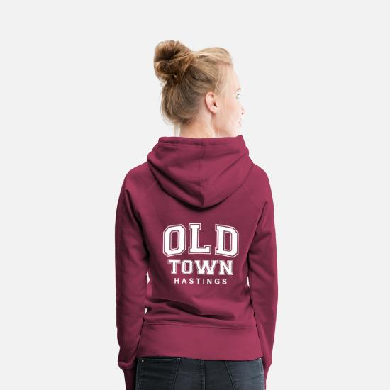 Old Town Hoodies & Sweatshirts - Old Town Hastings Tommy Style - Women's Premium Hoodie bordeaux