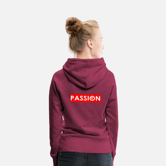 Fête Des Mères Sweat-shirts - karaté kickboxing passion vocation barre rouge kre - Sweat à capuche premium Femme bordeaux