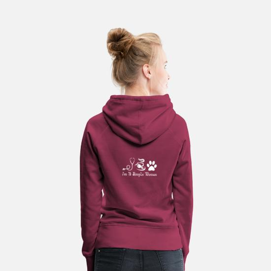 Simple Hoodies & Sweatshirts - I am a simple woman - Women's Premium Hoodie bordeaux