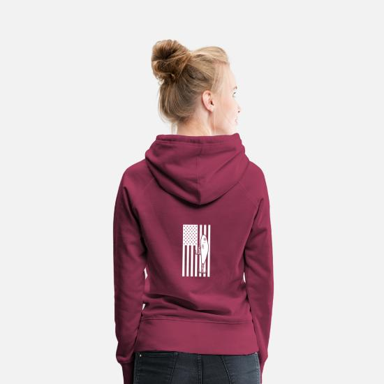 Fiske Tröjor & hoodies - Wobblers Jerkbait Stars And Stripes America Flag - Premium hoodie dam bordeaux