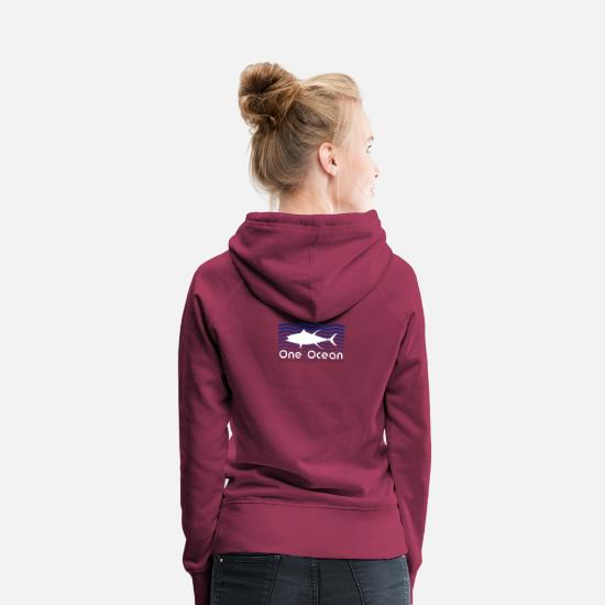 Save The Planet Sweaters & hoodies - Save the Oceane - Conservation - Sea - Fish - Vrouwen premium hoodie bordeaux