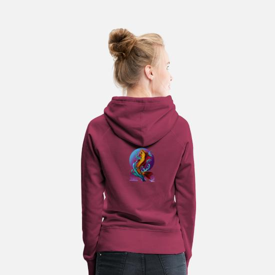 Larp Pullover & Hoodies - Asia Fish Demon by Mr. DiSzy - Frauen Premium Hoodie Bordeaux