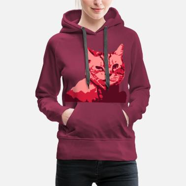 Sherlock Sherlock Cat, Cat, Kitty, Cool Cat, fun - Women's Premium Hoodie