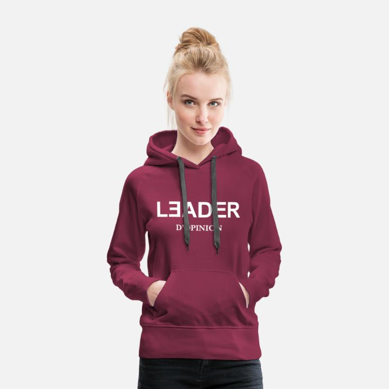 Chef Sweat-shirts - Leader d'Opinion - Sweat à capuche premium Femme bordeaux