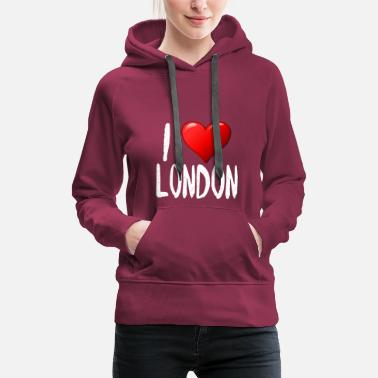 I Love London I Love London - Felpa con cappuccio premium da donna