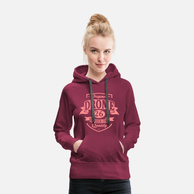 Drome Sweat-shirts - Drôme - Sweat à capuche premium Femme bordeaux