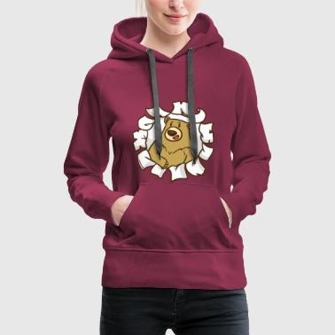 Breakthrough, opening, goal, bear - Women's Premium Hoodie