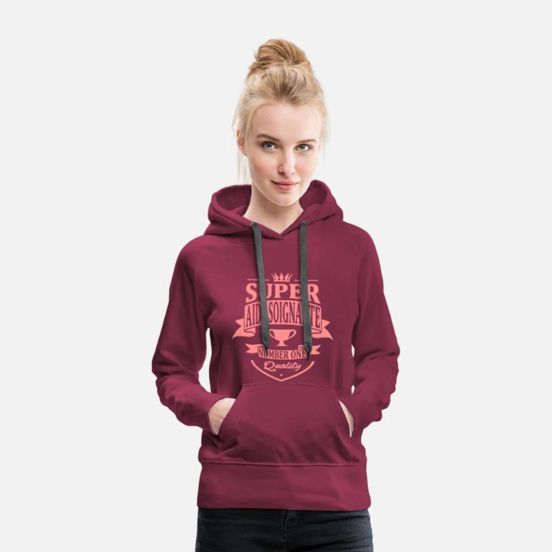 Soignante Sweat-shirts - Super Aide Soignante - Sweat à capuche premium Femme bordeaux