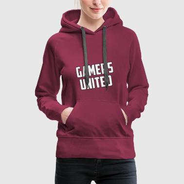 Gamer United - Sweat-shirt à capuche Premium pour femmes