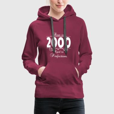 Born-in-Age-2000 Birthday - Women's Premium Hoodie