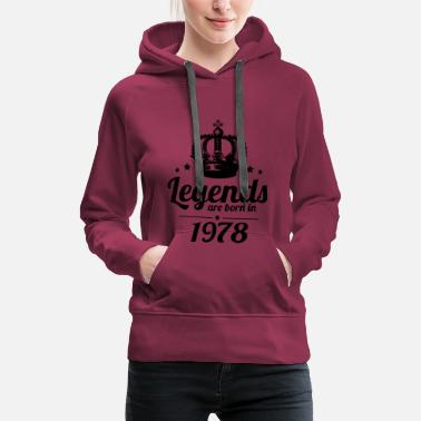 Born In Legends 1978 - Women's Premium Hoodie