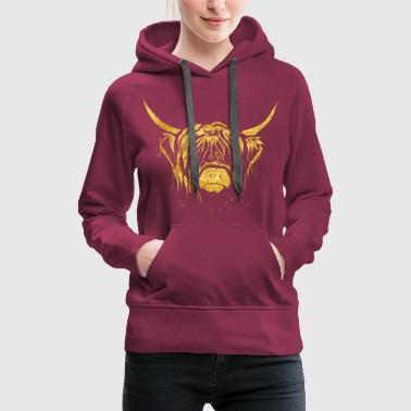Cow Golden Highland Cow - Women's Premium Hoodie