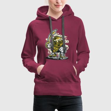 Cartoon A DIVER - Funny cartoon cartoon character gift - Women's Premium Hoodie