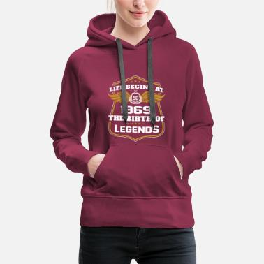 March Life begins at 50 1969 the birth of legends - Women's Premium Hoodie