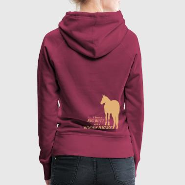 Big Butt - bigger Heart -Quarter Horse - Frauen Premium Hoodie