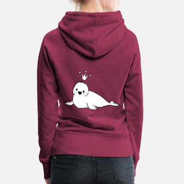 Seal design with crown - Women's Premium Hoodie