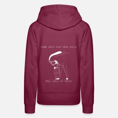 Konie głowa konia konie miłośników koszulka prezent Bluza damska Premium z kapturem biały