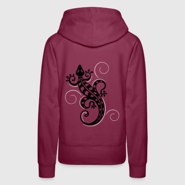 Big lizard, tribal and tattoo style.  - Women's Premium Hoodie