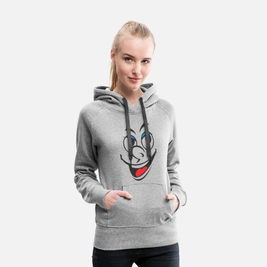 Grin Hoodies & Sweatshirts - Smiley - Women's Premium Hoodie heather grey