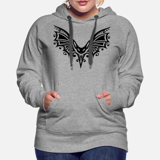Flying Bat, vecteur Halloween. Sweat à capuche premium Femme