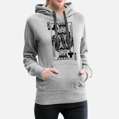 Las Vegas Jeu de cartes Cross King - Sweat à capuche premium Femme