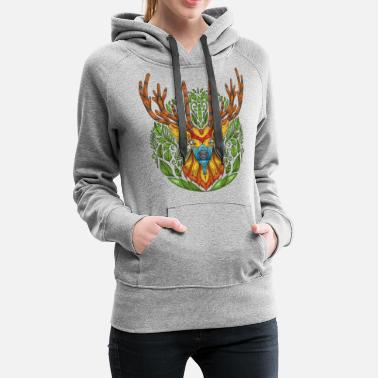 Deer deer nature deer head - Women's Premium Hoodie