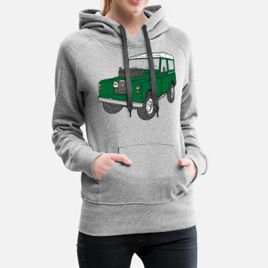 Saimer Landy Land Rover Defender Series Jeep - Sweat à capuche premium Femme