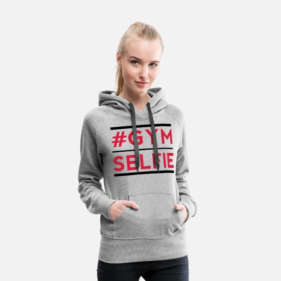 Fitness Center Health Club Apparel Muscle Factory Hoodies & Sweatshirts - gym s - Women's Premium Hoodie heather grey