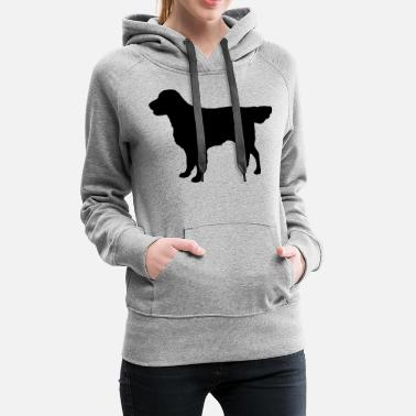 Flatcoat Retriever Dog - Sweat à capuche premium Femme
