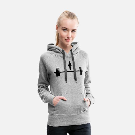 Girl Hoodies & Sweatshirts - Lift heavy things - Women's Premium Hoodie heather grey