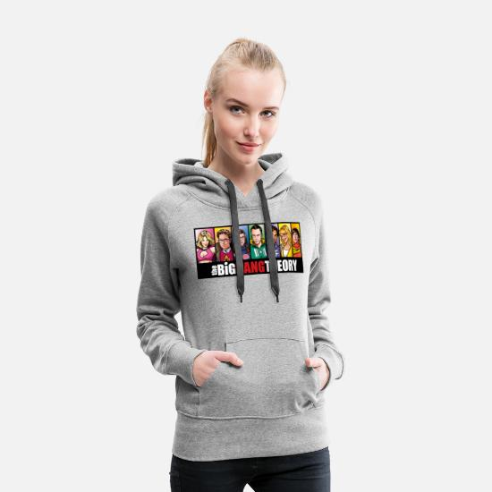 Big Sweaters & hoodies - The Big Bang Theory Comic teenager T-shirt - Vrouwen premium hoodie grijs gemêleerd