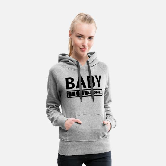 Baby Shower Hoodies & Sweatshirts - baby - Women's Premium Hoodie heather grey
