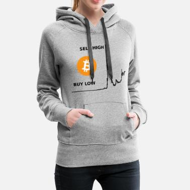 how to bitcoin - Felpa con cappuccio premium donna