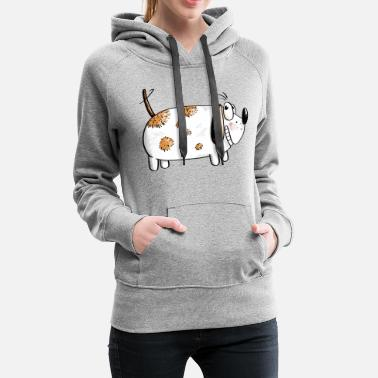 Comic Fat Funny Dog - Dogs Comic - Vrouwen premium hoodie