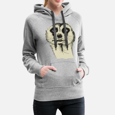 Illustration de suricate - Sweat à capuche premium Femme