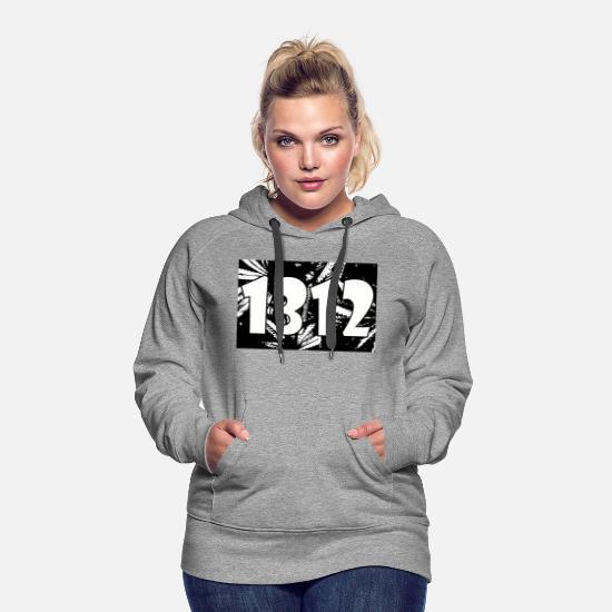 1312 Acab Le légaliser 420 Sweat shirt à capuche Premium pour femmes blanc