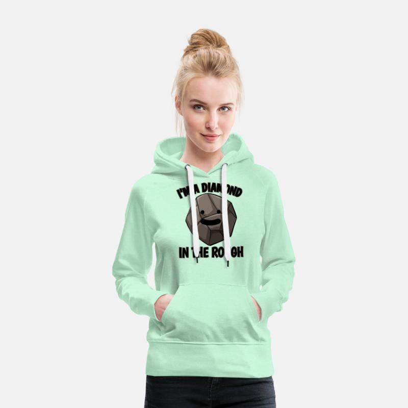 28158fa83 Diamond Inner Values Sayings Quotes Charcoal Gift Women's Premium Hoodie |  Spreadshirt