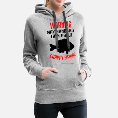 Angel Warning sometimes talks about fishing gift - Women's Premium Hoodie