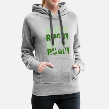 Ruck rugby tackle scrum ruck penalty rough gift - Women's Premium Hoodie